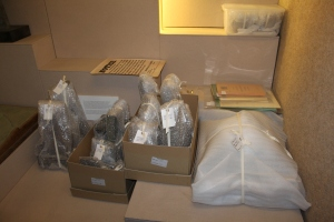 Objects pack ready to go into temporary storage