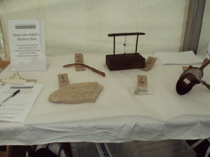 'Guess the mystery object quiz' table