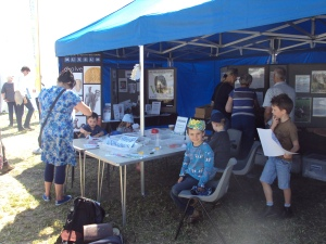 Salisbury Museum stall at the Chalke Valley History Festival