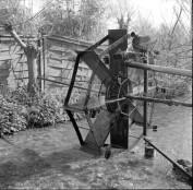 Heath Robinson Garden Waterer Contraption.
