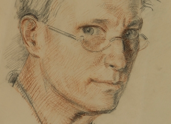 Henry Lamb Self Portrait Sketch SMALL