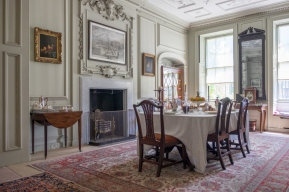 The Dining Room at Mompesson House, Wiltshire.